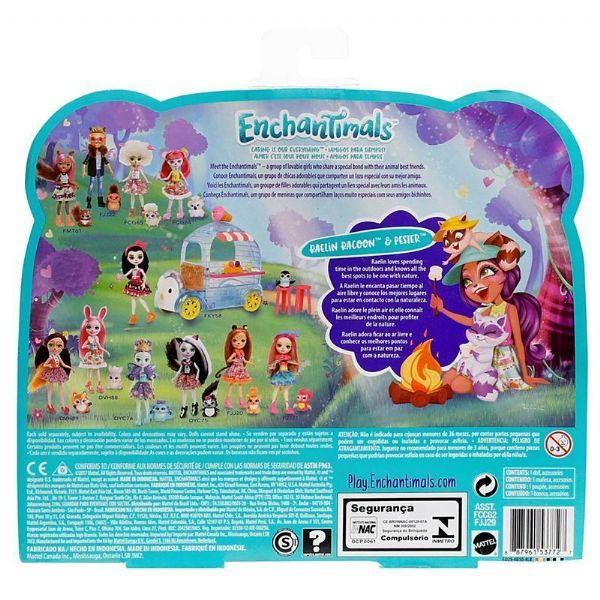 Mattel Enchantimals Campfire Friends With Animals Playset - 4+ Years FJJ29